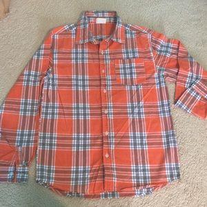 Long sleeve button down dress shirt Flannel